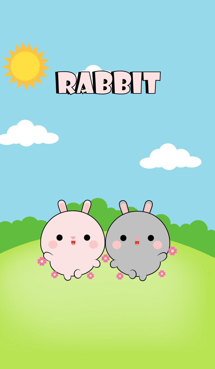 Mini Pink Rabbit & Gray Rabbit (jp)