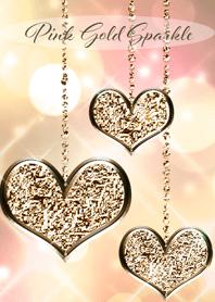 Pinkgold Sparkle Heart Theme