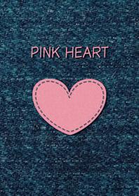 PINK HEART ~Denim and Felt