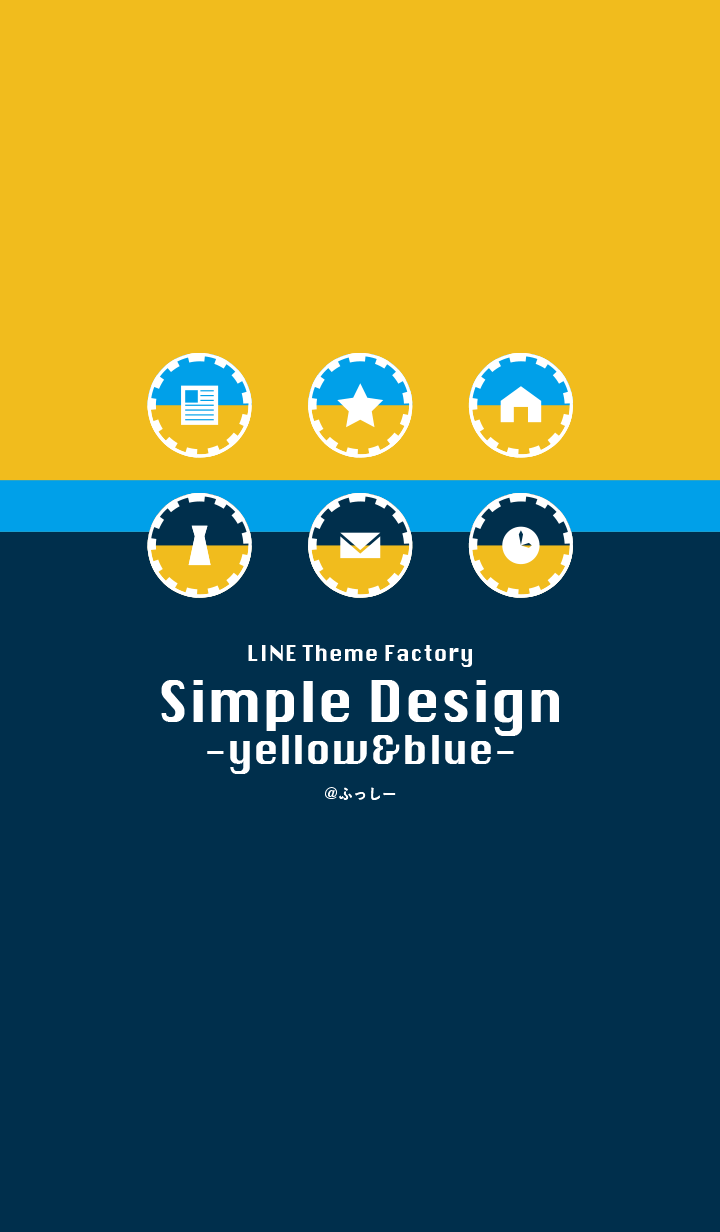 simple design -blue&yellow-