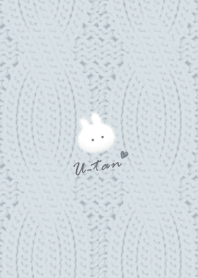 Rabbit and Knit2 bluegray35_2