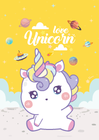 Unicorns Love Galaxy Yellow