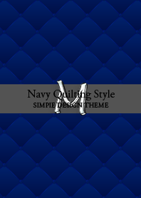 """Navy Quilting Style """"M"""""""