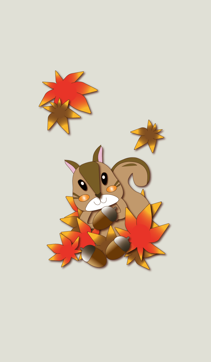 Squirrel in the autumn forest.