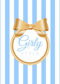 Girly Style-GOLDStripes-ver.17