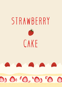 Sweet and delicious strawberry cake