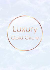 Marble Luxury Gold Circle #Pastel Blue .