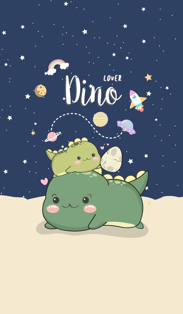 Dino Lover. midnight blue