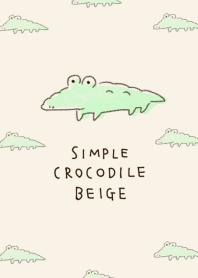 簡單的 鱷魚 淺褐色的