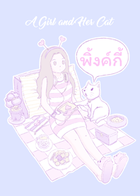 A Girl and Her Cat [Pinkkie]