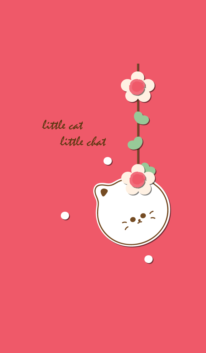 little cat with little flower 15