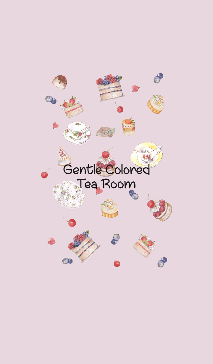 gentle colored tea room