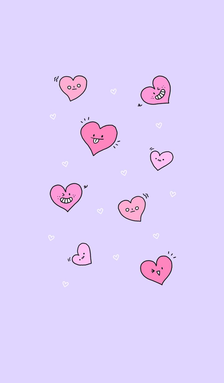 dynamic heart purple
