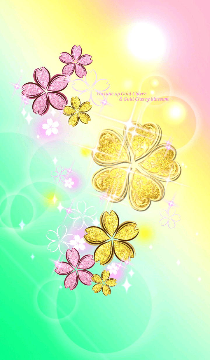 Fortune up Gold Clover & Cherry blossom
