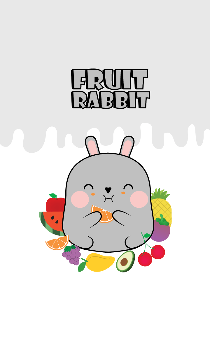 Gray Rabbit And Fruit Theme (jp)