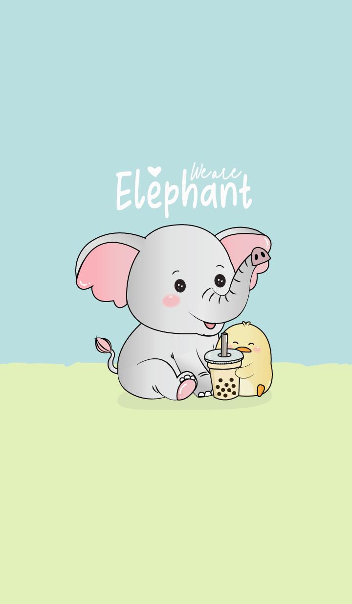 Elephant and Duck Bubble tea.