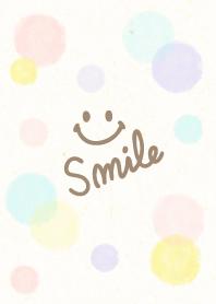 Adult watercolor Polka dot3 - smile7-