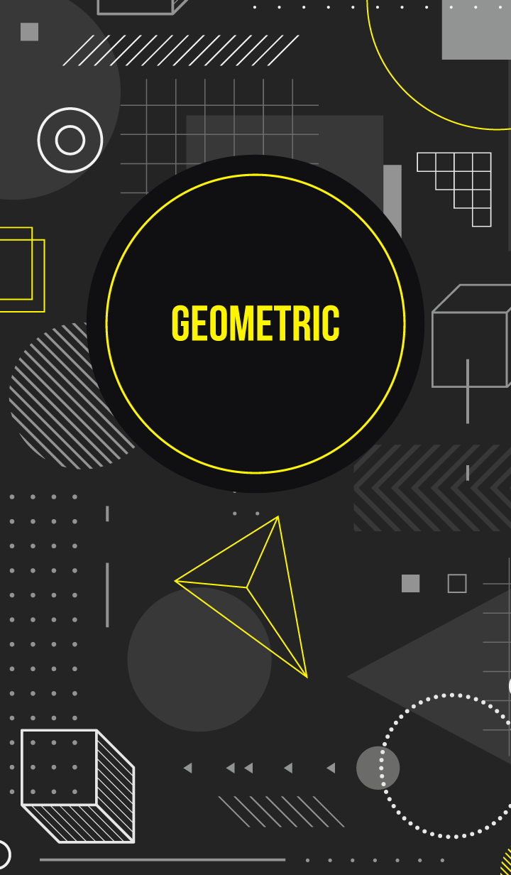 Geometric Black 15