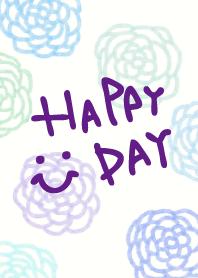 Blue watercolor flower patterns -smile6-