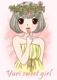 ธีมไลน์ Yuri sweet girl theme