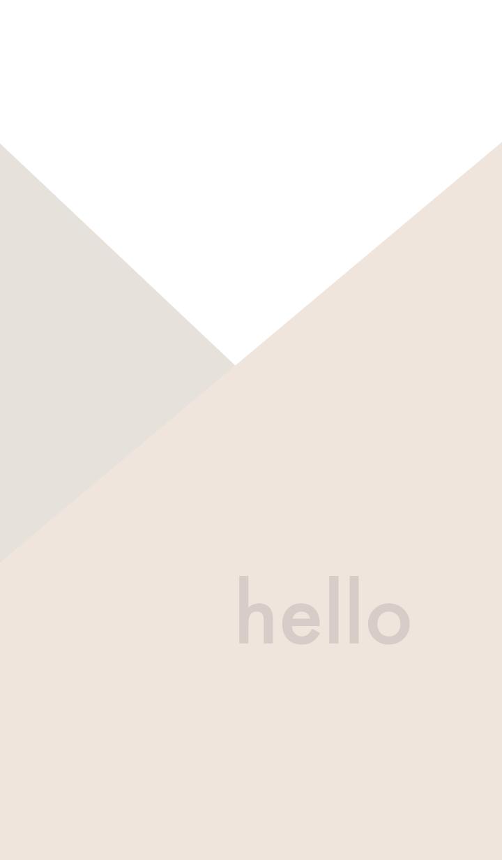 hello - ベージュ