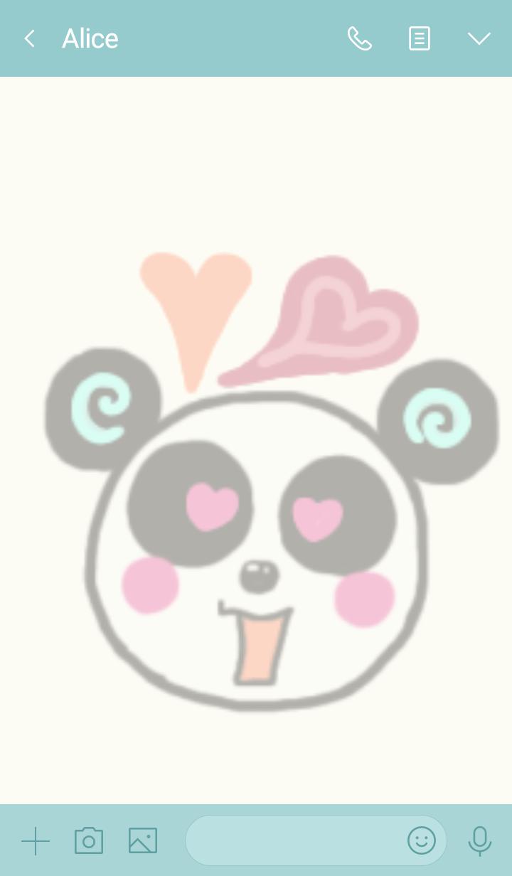 colorful cute panda
