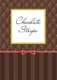 巧克力色條紋 .