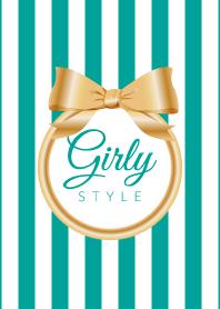 Girly Style-GOLDStripes-ver.9