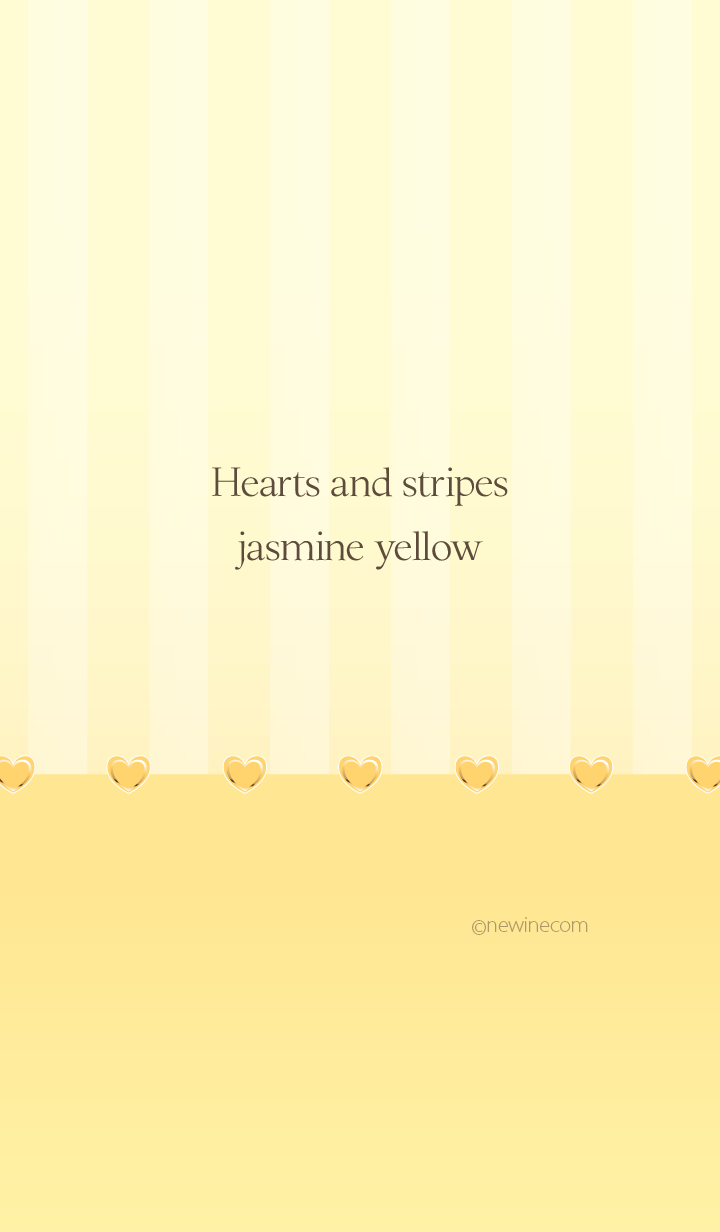 Hearts and stripes jasmine yellow