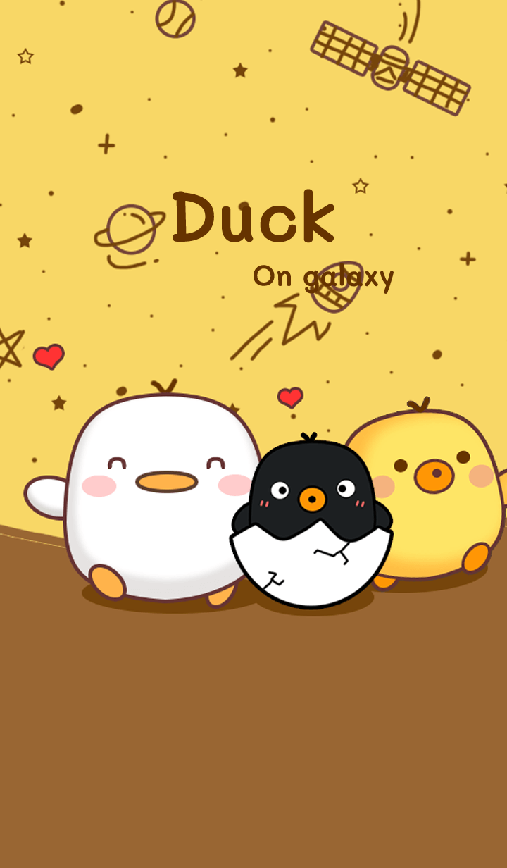 Three duck on galaxy