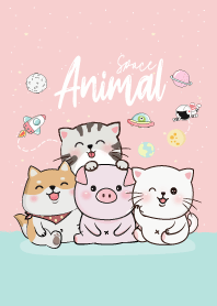 Animal Gang On Space 6 (Pink&Blue)