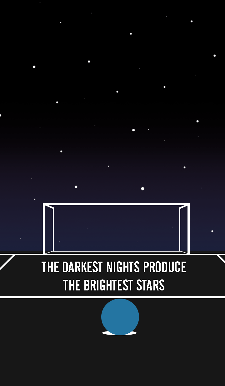 Darkest night, Brightest stars.