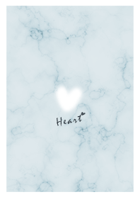 Marble and fluffy heart blu...