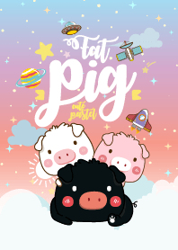 Fat Pig Galaxy Cute Pastel