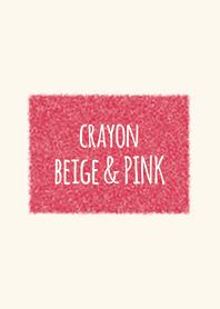 Crayon Beige และ Vivid Pink Square