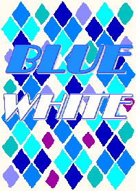 Color Wall Series Blue & White No.1