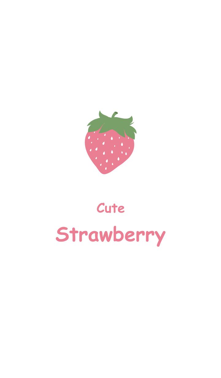 최소한의 핑크 딸기