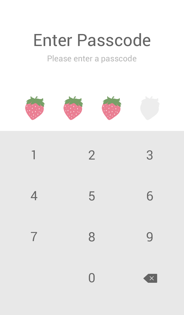 ミニマルなピンクのイチゴ