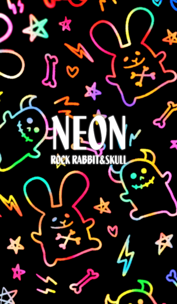 Rock rabbit and skull / NEON!