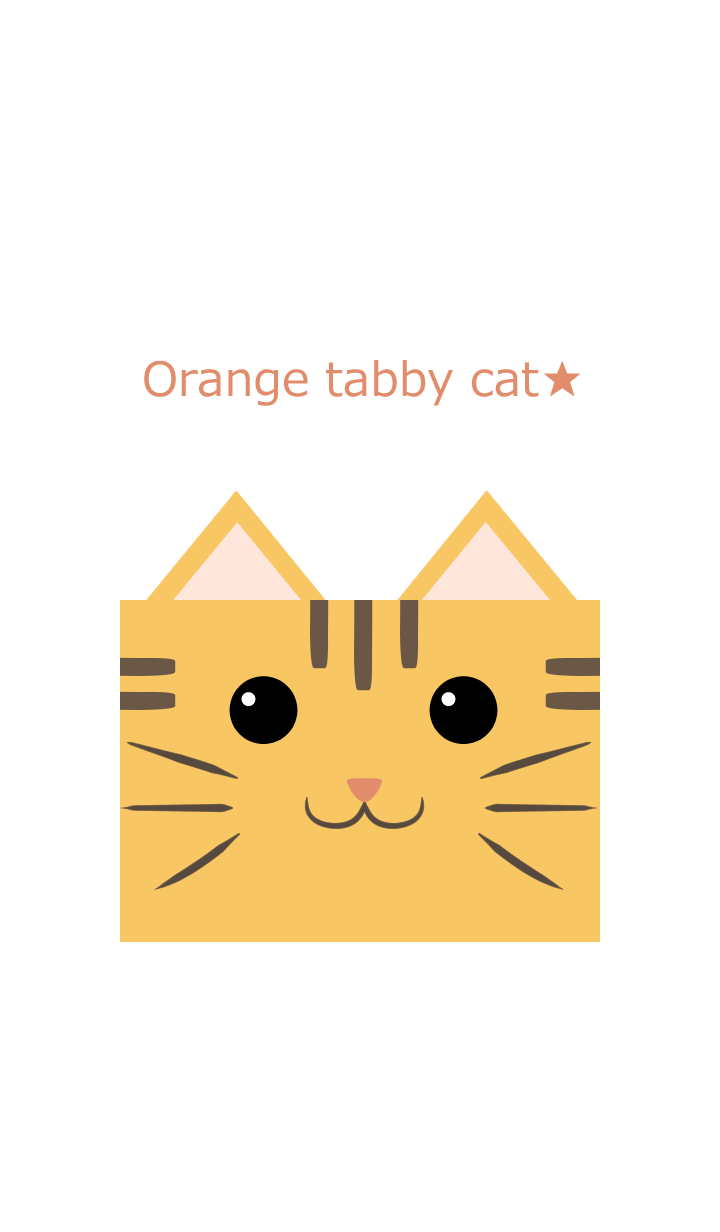 Pop Orange tabby cat