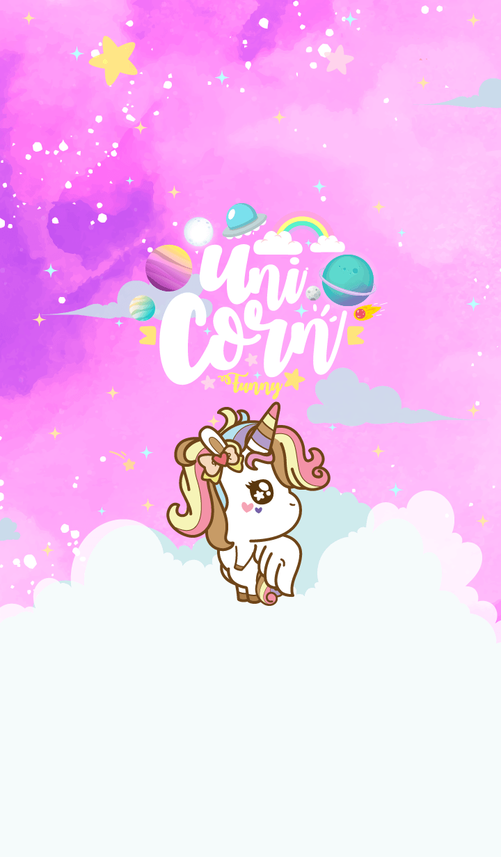 Unicorn Funny Galaxy Night Violet