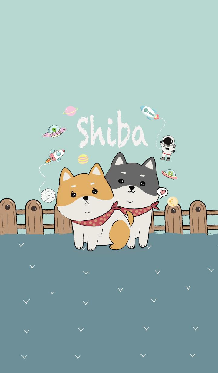 I'm Shiba Inu dog. Green