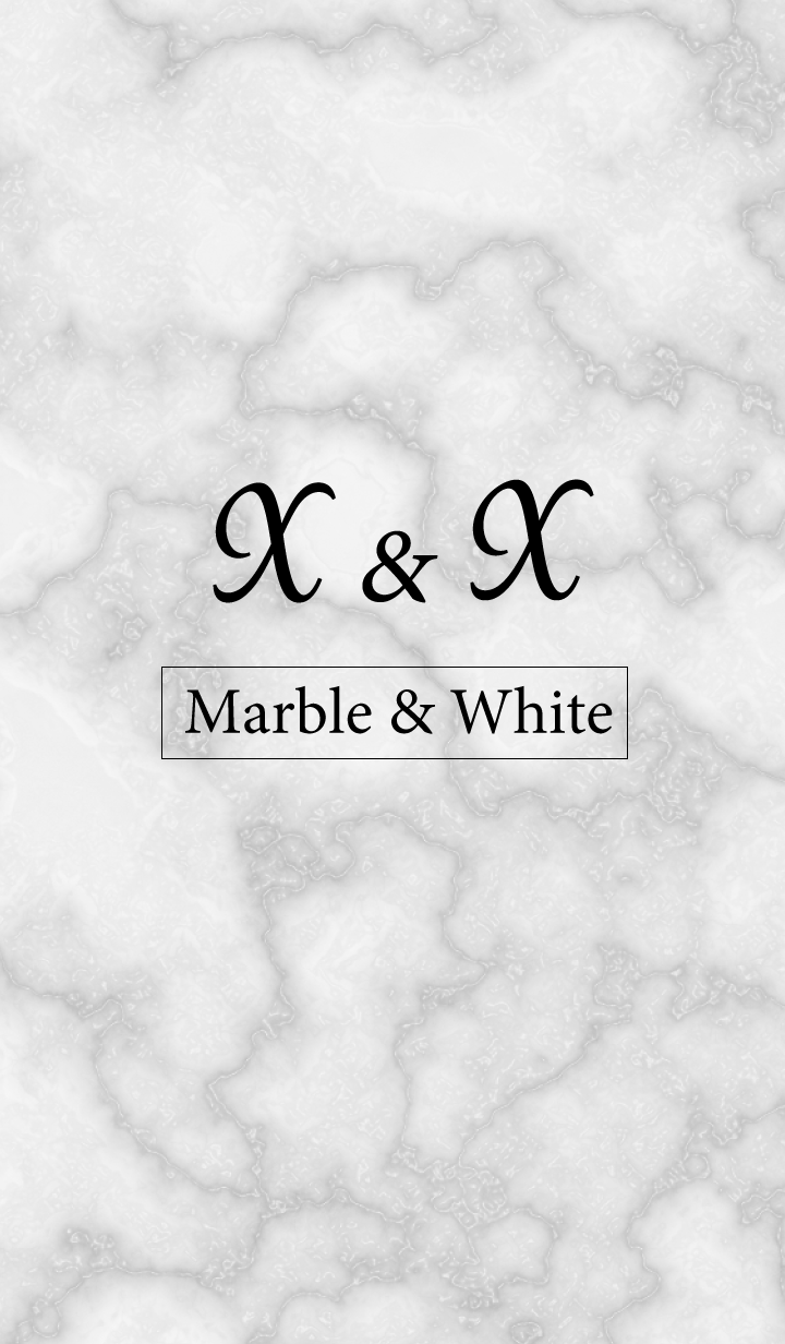 X&X-Marble&White-Initial