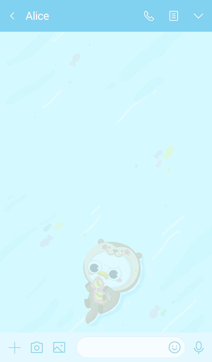 sea otter oronge
