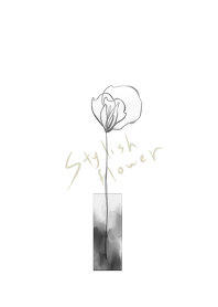 Stylish monochrome flower