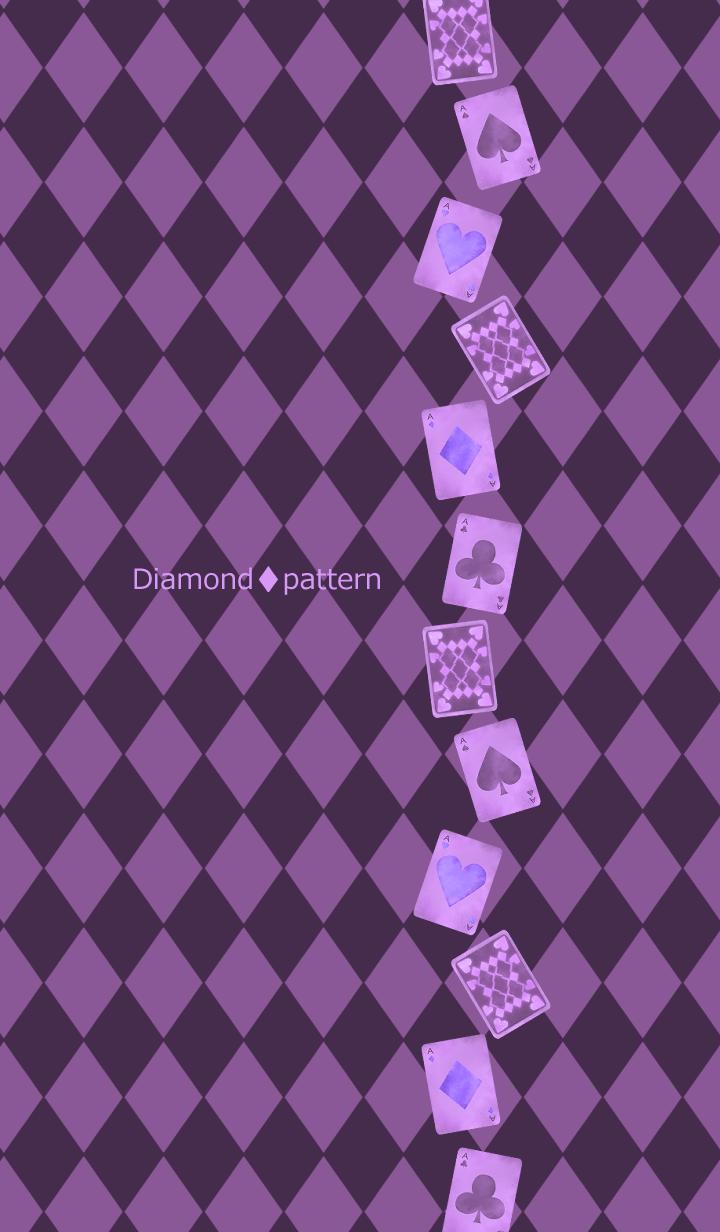 Diamond pattern -Gothic purple-