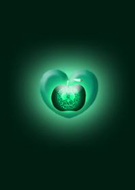 Blue Green Apple Heart Skull