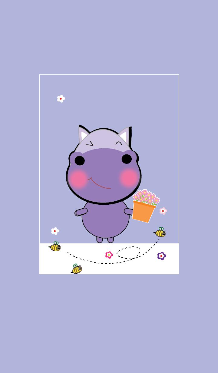 Simple cute hippo theme v.2