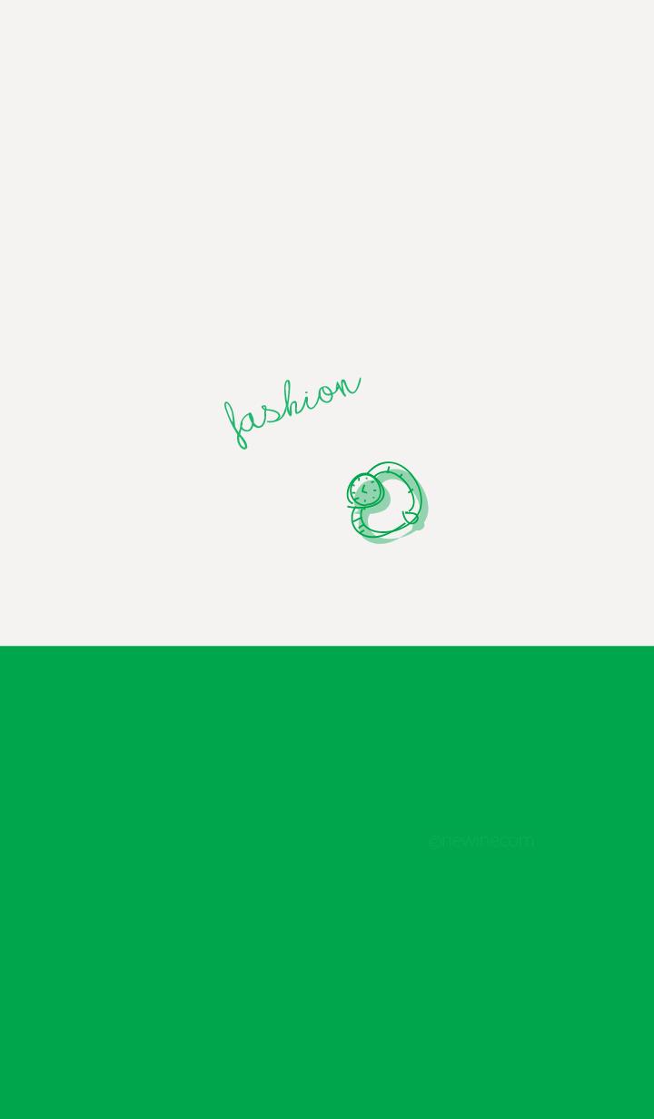 fashion green white