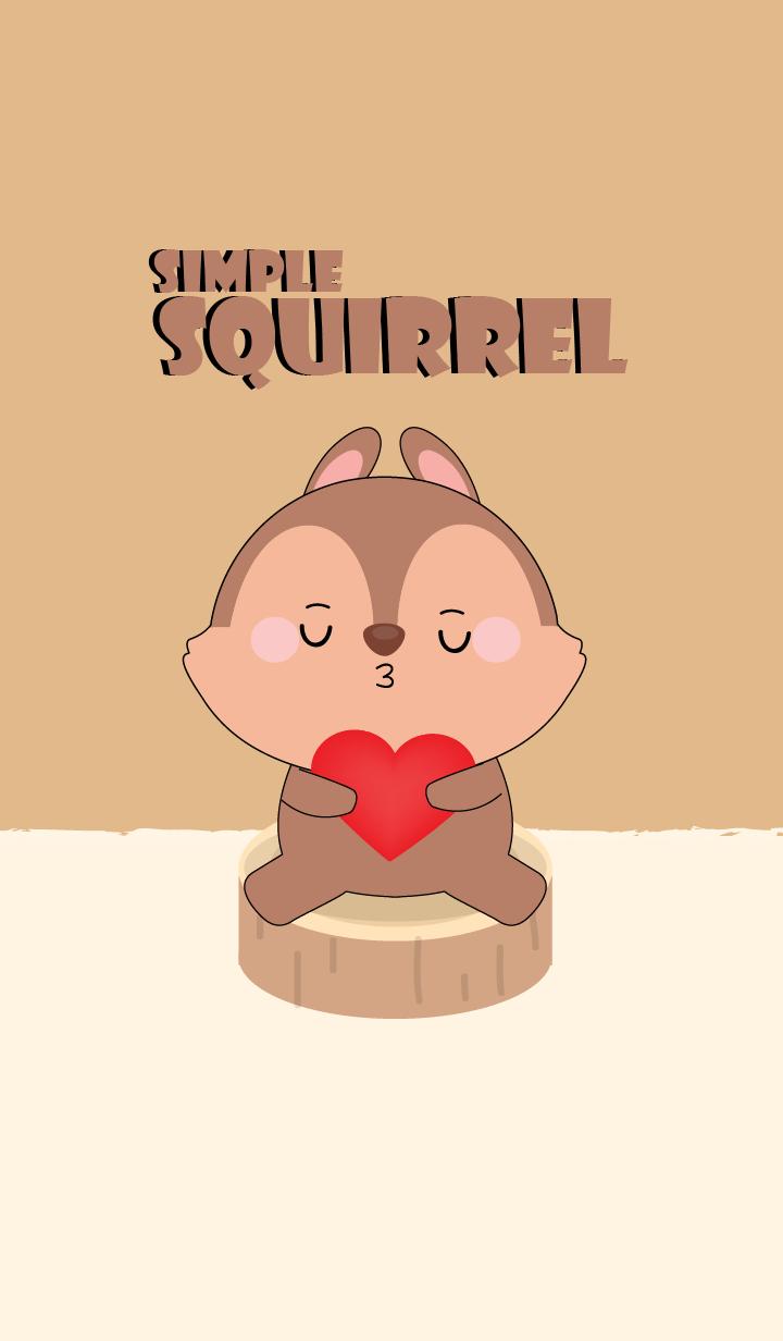 Simple Love Cute squirrel
